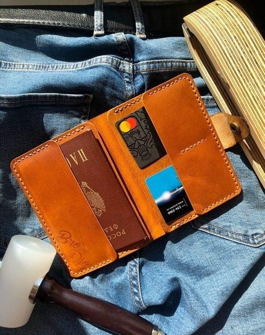 кошелек выкройка - паспорт, карты